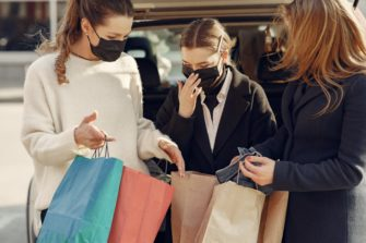 Women shopping with masks - Retail Post Covid