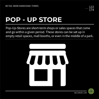 BENCHMARC - GLOSSARY - POP UP STORE